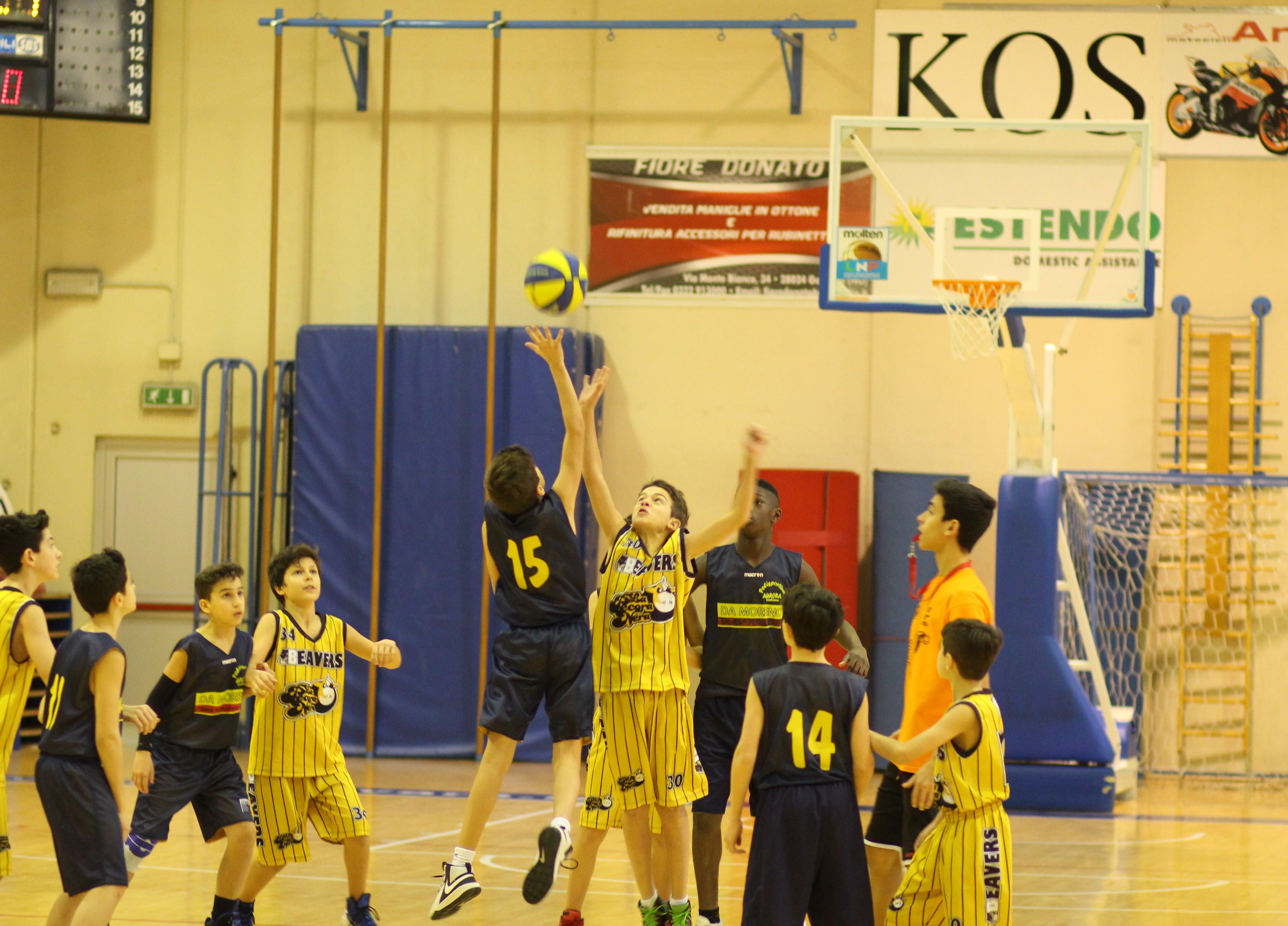 Minibasket borgomanero beavers m2w sport associazione sportiva basket novara don bosco